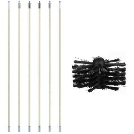 """main image of """"Chimney Boiler Nylon Brush Dryer Duct Cleaning Tool Kit for Household and Industrial Use,model: 2"""""""