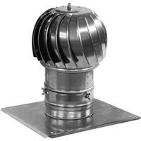 Chimney Flue Cowl Stainless Steel Spinning Ventilation Cowl 200mm diameter with additional roof plate