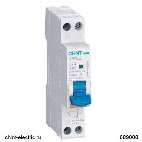 """main image of """"Chint - NBH8 Magnetotermico 1P+N 16A 4,5KA 1M - Chint 190236"""""""