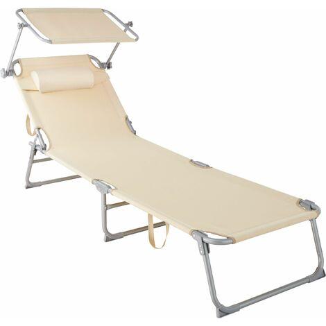 Sun Lounger Chloé - Sun lounger, Garden lounger, Lounger - beige