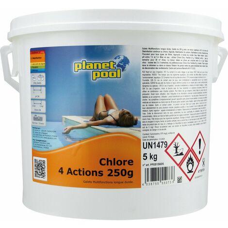 Chlore 4 action pot 5kg pour piscine