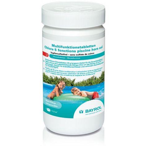 Chlore 5 fonctions pour piscine hors-sol - 1 kg de Bayrol - Produits chimiques