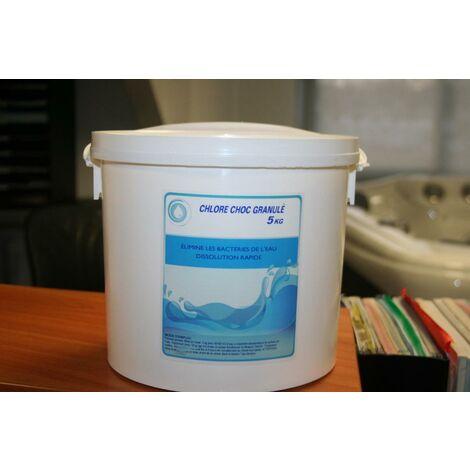 Chlore Choc - En granulé - Seau de 5 kg - 47510PE/FB005P
