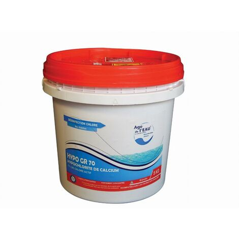 Chlore choc GACHES CHIMIE Hypochlorite de calcium granulés - Seau de 5kg - HYPOGR705