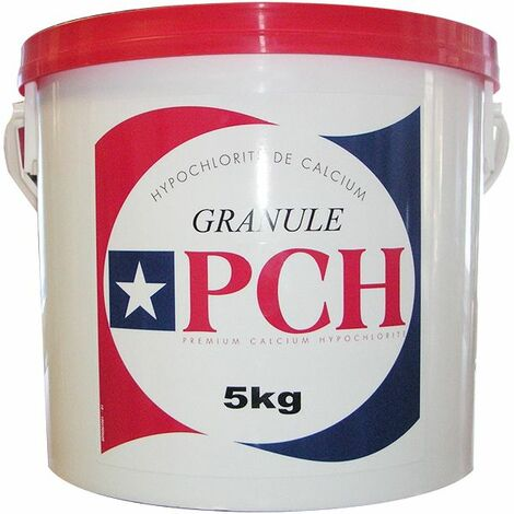 chlore choc granulé 5kg - hypochlorite calcium - pch