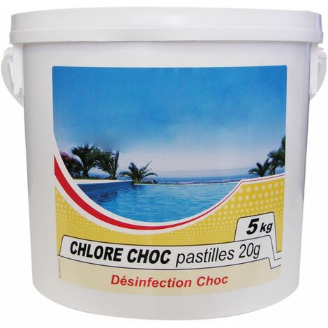 chlore choc pastille 5kg - chlore choc - nmp