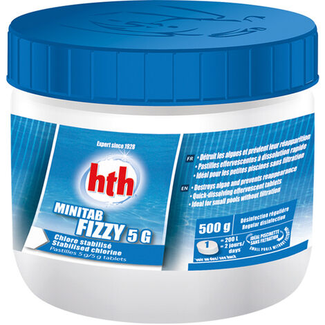 Chlore en pastilles effervescentes spécial piscinettes Minitab Fizzy 500 g - HTH