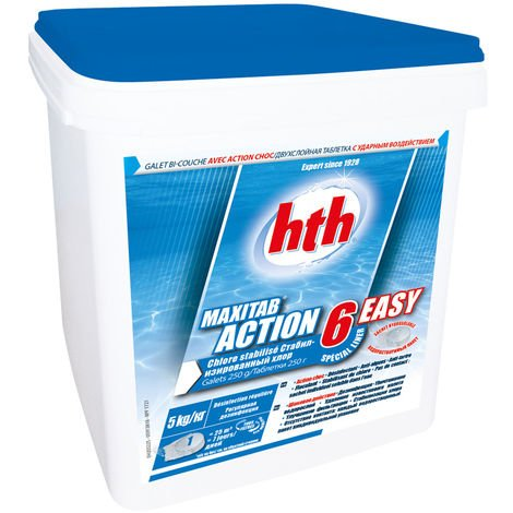 Chlore galets 6 actions spécial liner Maxitab 5 kg - HTH