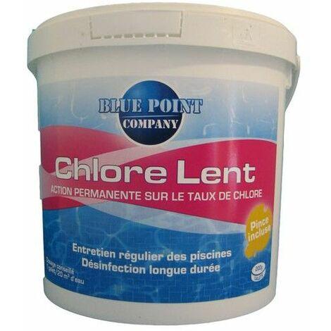 CHLORE LENT 1KG GALETS DE 250G (Vendu par 1)