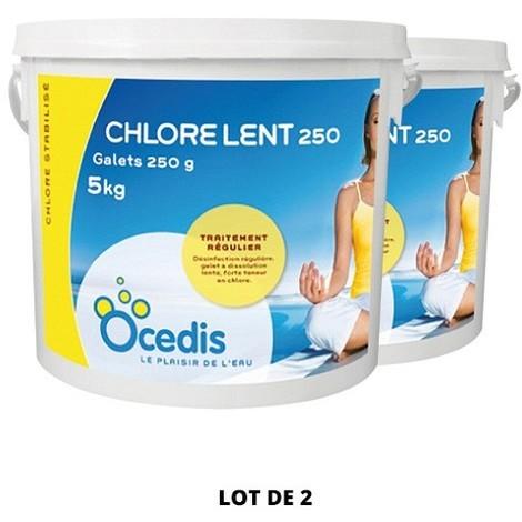 Chlore lent - 250g - 2x5 kg de Ocedis - Produits chimiques