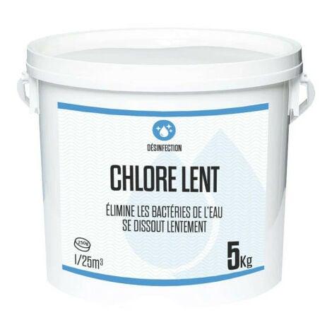 Chlore lent 5kg - galets de 250g