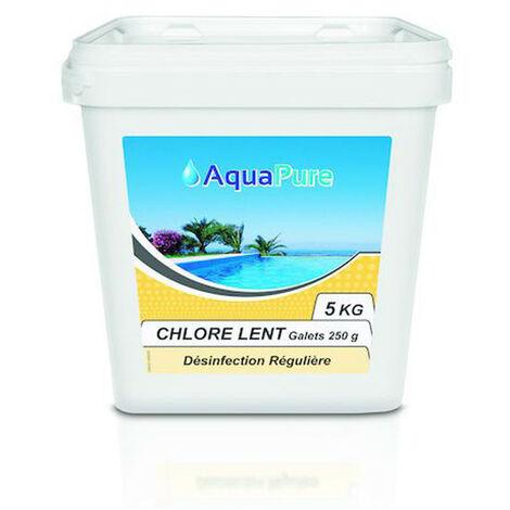 Chlore lent galet 250 g - 5kg