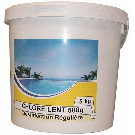 chlore lent galet de 500g 5kg - chlore lent 500 - nmp