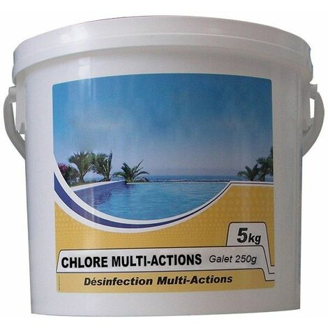 chlore lent multi-fonctions galet 250g 5kg - chlore multi-actions 250 - nmp