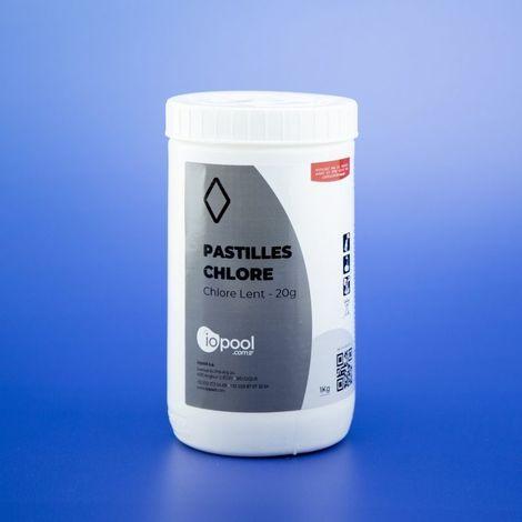 Chlore lent - pastilles 20g - 1 kg - iopool