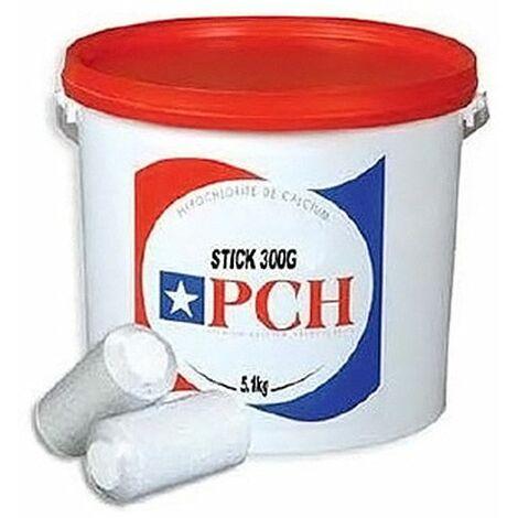 chlore lent stick 300g 5.1kg - hypochlorite calcium longue duree - pch