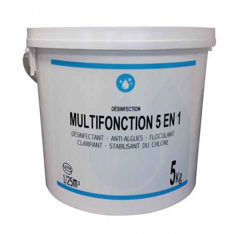 CHLORE MULTIFONCTION 5 EN 1 250GR SCEAU 5 KG ACTI 47312PE-FB005P02