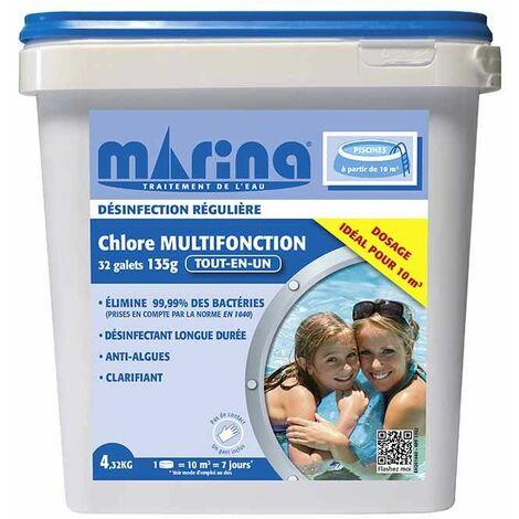 Chlore Multifonction Galets 135g - 4,32 kg