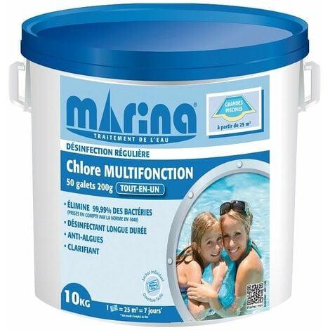 Chlore multifonction galets 200g Marina - 10kg