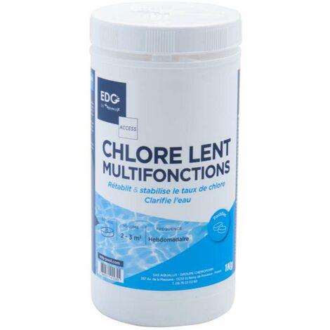 Chlore multifonction piscine 1kg Pastilles de 20g