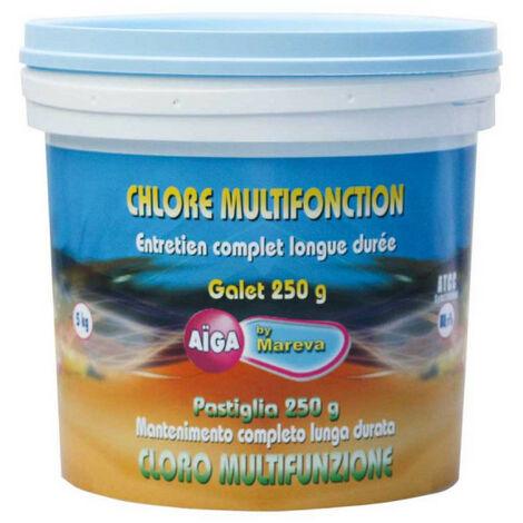 Chlore multifonctions Aiga MAREVA galets pour piscine - 5 kg - 250 g - 111035U