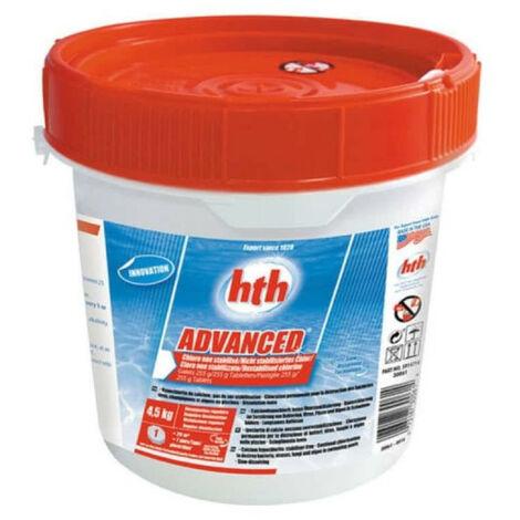 Chlore non stabilisé pour piscine HTH Advanced - Galets - 4,5Kg