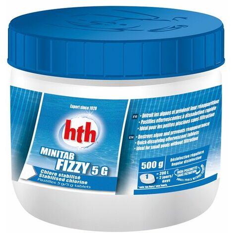 Chlore stabilisé HTH Minitab Fizzy - Pastilles effervescentes 5g