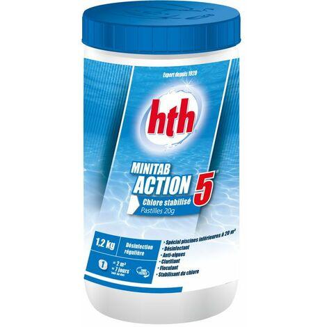 HTH Minitab Action 5 - Chlore stabilisé multifonction pastilles 20g