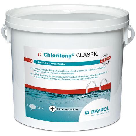 chlore lent galet 250g 5kg - chlorilong classic - bayrol