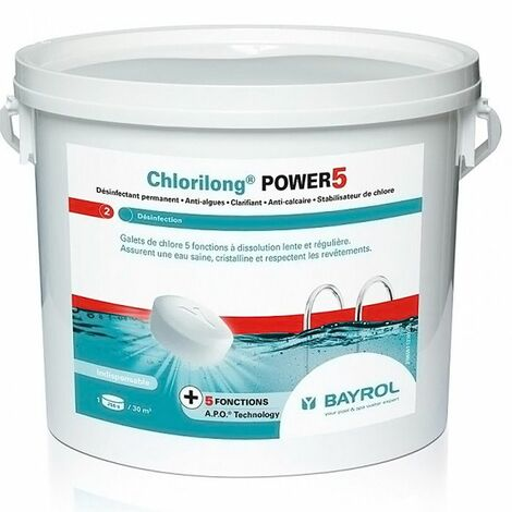 Chlorilong Power 5 Bayrol - chlore lent multiactions