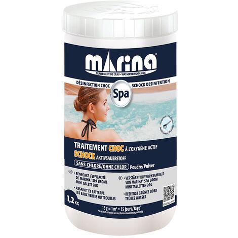 Choc en poudre sans chlore pour spa 1,2 kg - Marina