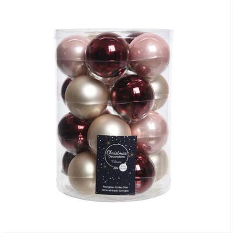 Christbaumkugeln Rot 15 Cm.Christbaumkugeln Weihnachtskugeln Mix Kaemingk ø6cm Rot Pink 20stück