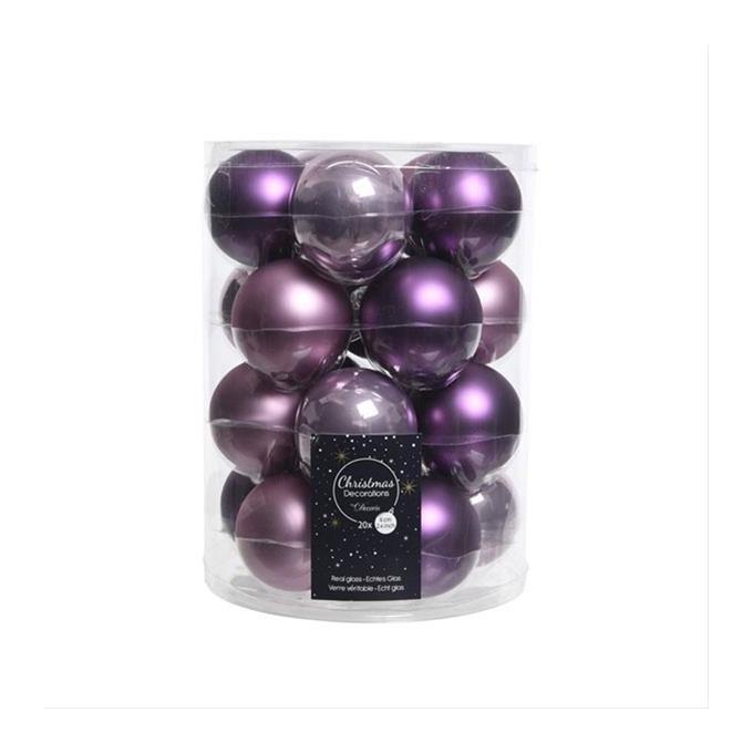 Christbaumkugeln Violett.Christbaumkugeln Weihnachtskugeln Mix Kaemingk O6cm Violett 20stuck