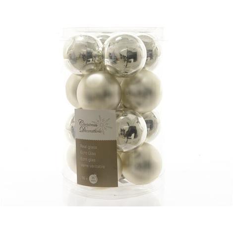 Mini Weihnachtskugeln.Christbaumschmuck Kaemingk Mini Weihnachtskugeln ø35mm Silber 16stck