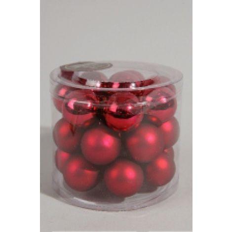 Mini Weihnachtskugeln.Christbaumschmuck Kaemingk Mini Weihnachtskugeln Glas ø25mm Rot 24stck