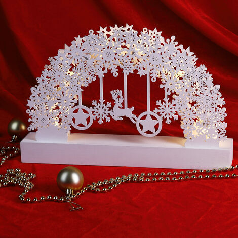 Christmas Arch XL LED Candle Bridge Window Decoration Ornament Xmas Scenery New