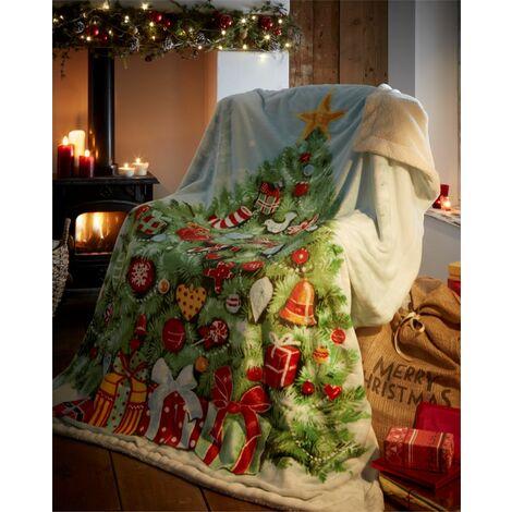 """main image of """"Christmas Bedding Xmas Tree Throw 130 x 170cm"""""""