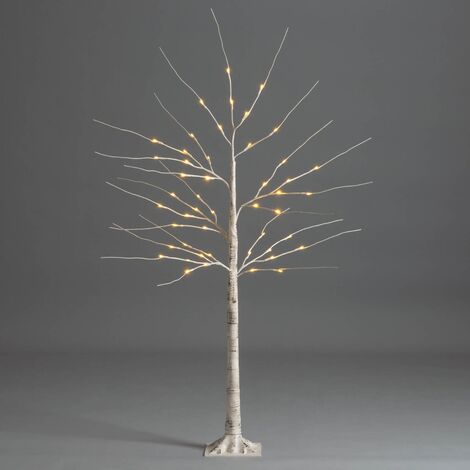 Christmas Birch Tree White Pre Lit Twig Light Decoration Indoor Outdoor Christow