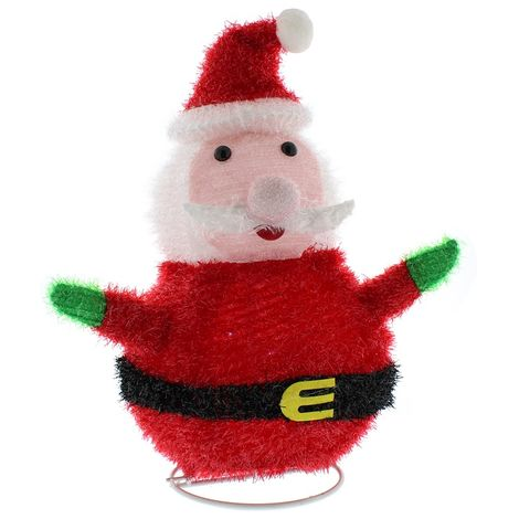 Christmas Collapsible Light up Santa Decoration - 40cm