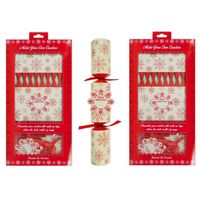 Christmas Crackers Make Your Own DIY Snowflake Xmas Party Tableware 12 Crackers