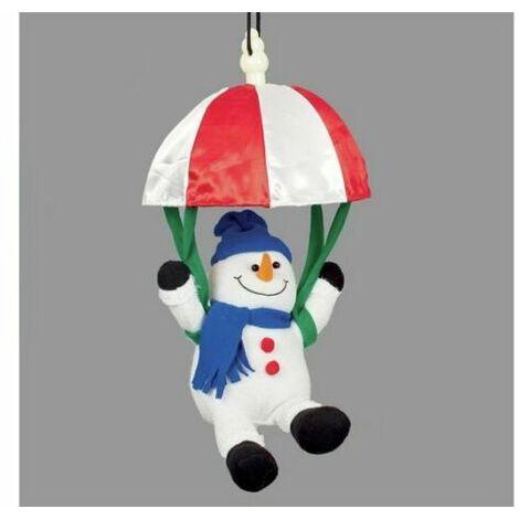 Christmas Decoration -Xmas Noise Activated Musical Parachuting Snowman