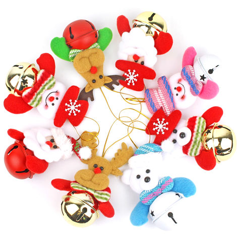 Christmas Doll Bells Christmas Tree Ornaments Hanging Pendant (Random Style)