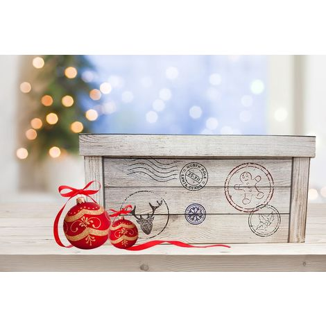 Christmas Eve Box Christmas Gift Xmas Gift Tag Cardboard Box Decorative