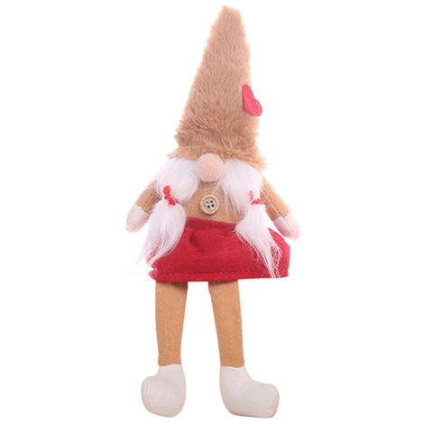 Christmas Faceless Doll Ornament Cute Cartoon Gift Khaki