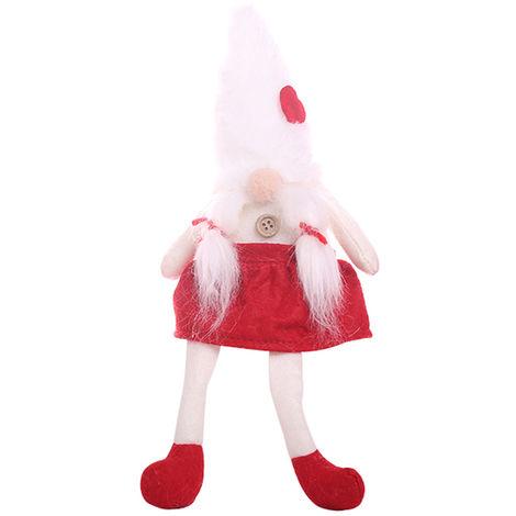 Christmas Faceless Doll Ornament Cute Cartoon Gift White