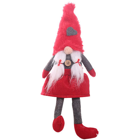 Christmas Faceless Doll Ornament Red