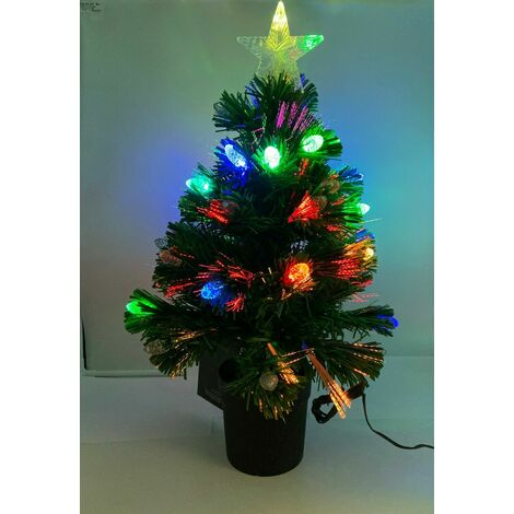 Christmas Festive Sparkly 60cm Prestwick Fibre Optic Lights Xmas Tree