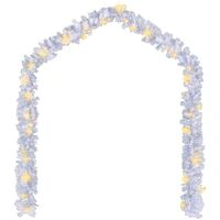 Christmas Garland with LED Lights 10 m White