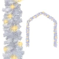 Christmas Garland with LED Lights 5 m White