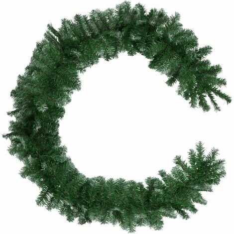 Christmas garland with white tips - Christmas wreath, garland, wreath - green